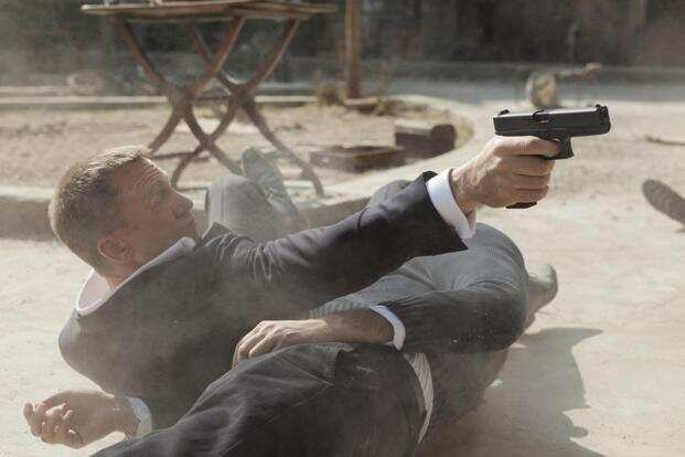 As James Bond, actor Daniel Craig is as sharp and savvy as ever